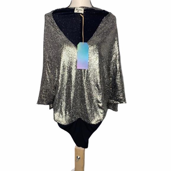 NWT Show Me Your MuMu Sparkly Bodysuit